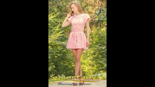 Pink crochet short dress hand crafted sexy dress by SuperTanya