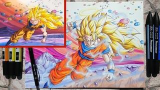 Goku SSJ3 vs Janemba Scene |Drawing|  ADC Remastered Episode 2