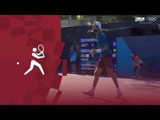Карен Хачанов  — Джеймс Дакворт .Теннис (муж). 1/16 финала. Олимпиада-2020