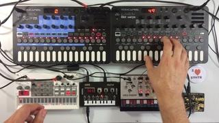 Bastl Kastle Drum Industrial Techno Jam - Sonicware Liven XFM 8bit Warps Volca Modular Sample NTS1