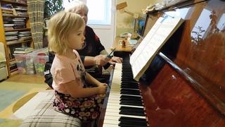 Ярослава Лемешкина, 3 года. Синкопы, часть 3 (фрагмент урока)