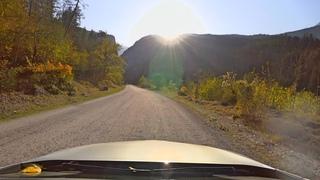 🚘 Steering wheel: Abkhazia, Driving descent from mountain lake Ritsa