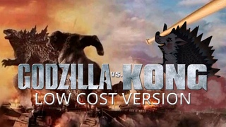 Godzilla vs  Kong LOW COST VERSION (2021).  ZERO BUDGET trailer (SWEDED) homemade dubbing