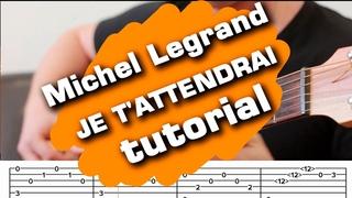 JE T'ATTENDRAI  Les Parapluies De Cherbourg guitar tutorial fingerstyle cover  guitarclub4you