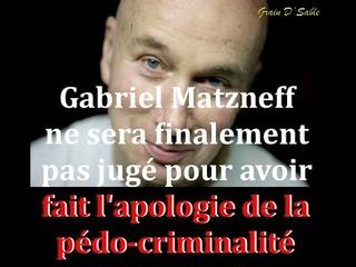 Gabriel Matzneff ne sera finalement pas jugé pour avoir fait l'apologie de la Pédo-Criminalité