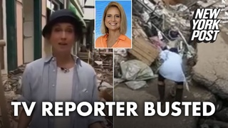 TV reporter busted faking muddy rescue effort in flood-ravaged town | New York Post
