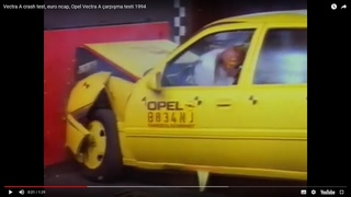Vectra A crash test, euro ncap, Opel Vectra A çarpışma testi