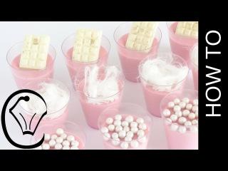 () Cotton Candy Panna Cotta Shot Glass Mini Dessert by Cupcake Savvy's Kitchen