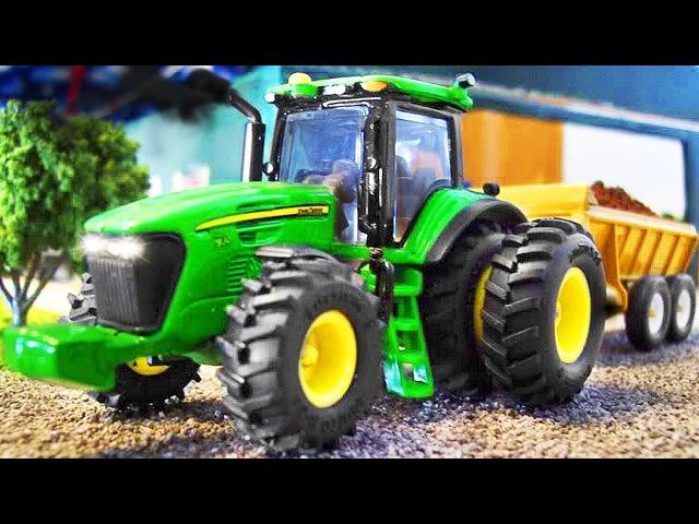 Traktor Pracowity Traktorki Zbierać Zniwa Bajki dla dzieci po polsku