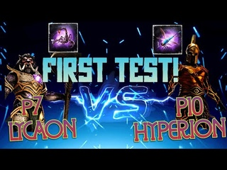 DAWN OF TITANS  FIRST TRY   P7 Lycaon vs P10 Hyperion   Maxed Resists
