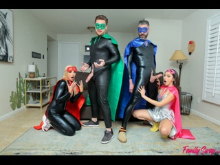 Hime Marie, Sophia West - When My Swap Family Does A Super Hero Event - Porno, MILF, Teen, Blonde, Cowgirl, Creampie Porn, Порно
