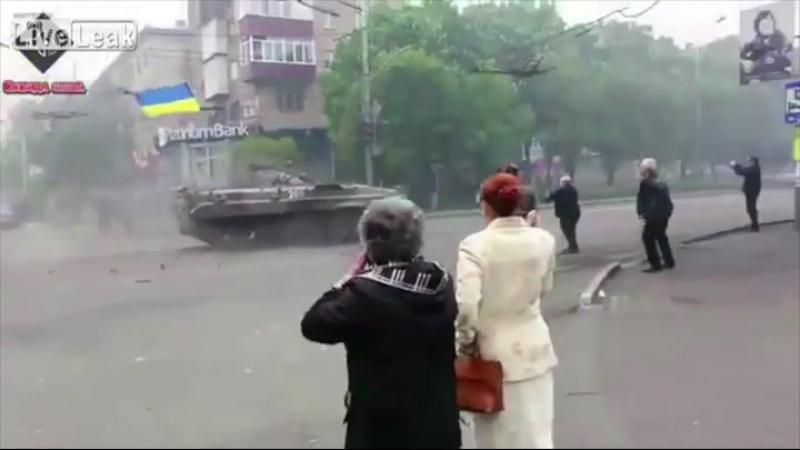 Ostukraine Ukrainische Nationalgarde schießt wild um sich