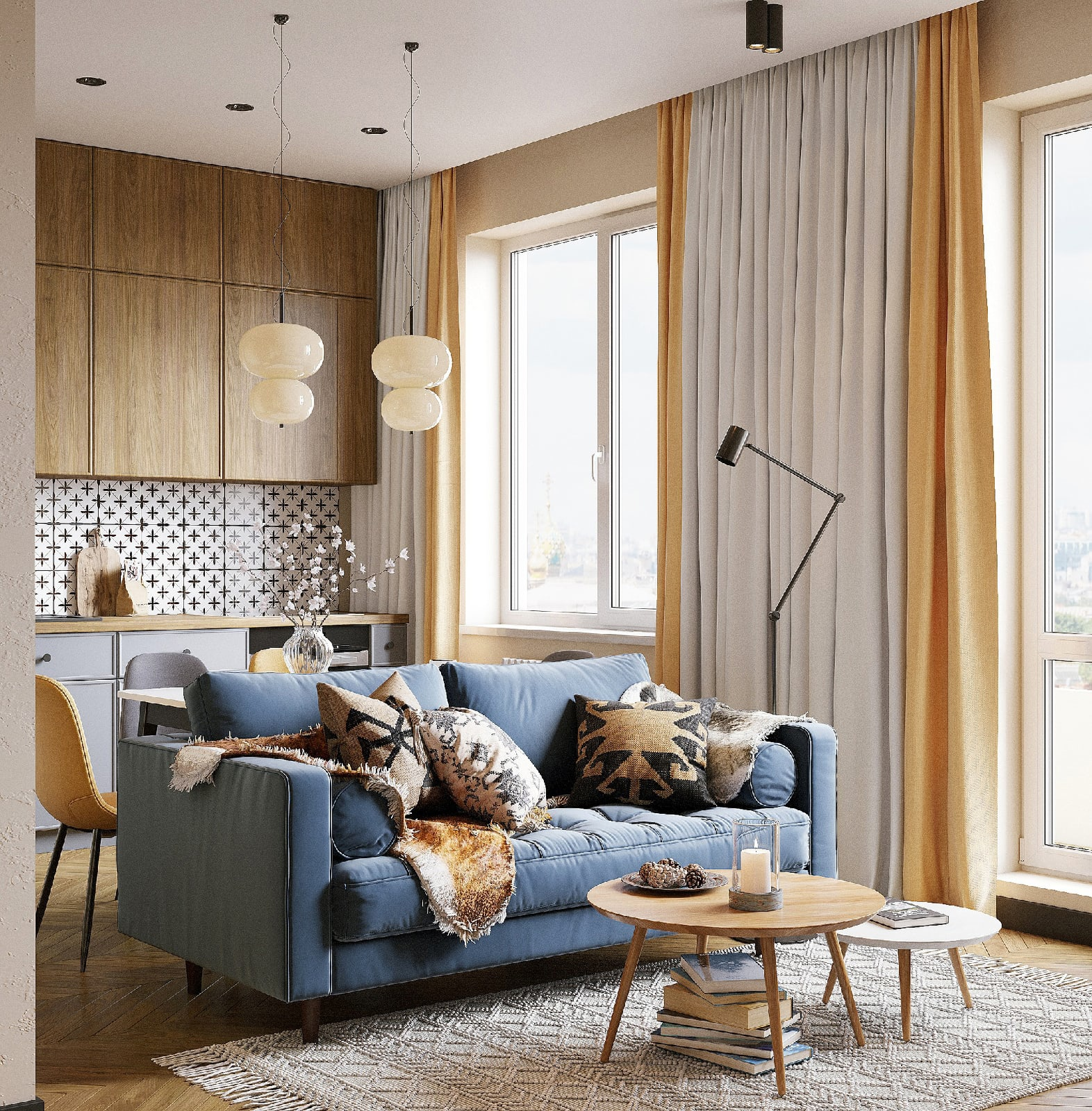 Дизайн-проект квартиры-студии 35 кв.