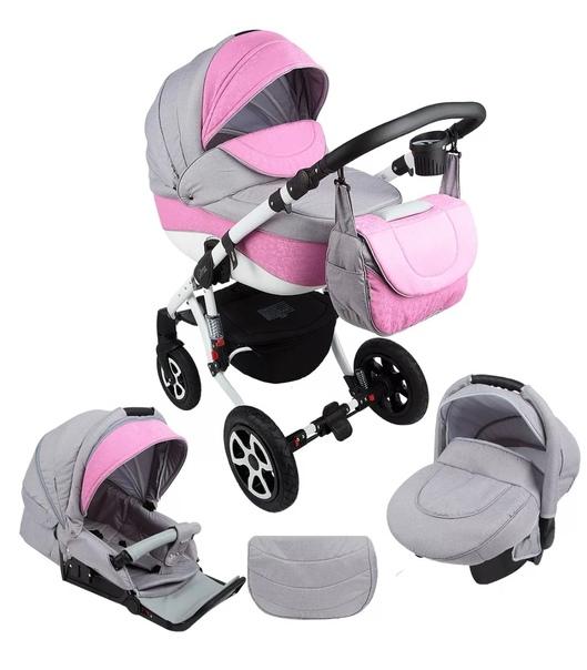 Продам коляску Adamex розового цвета 3 в 1 ((((В н...