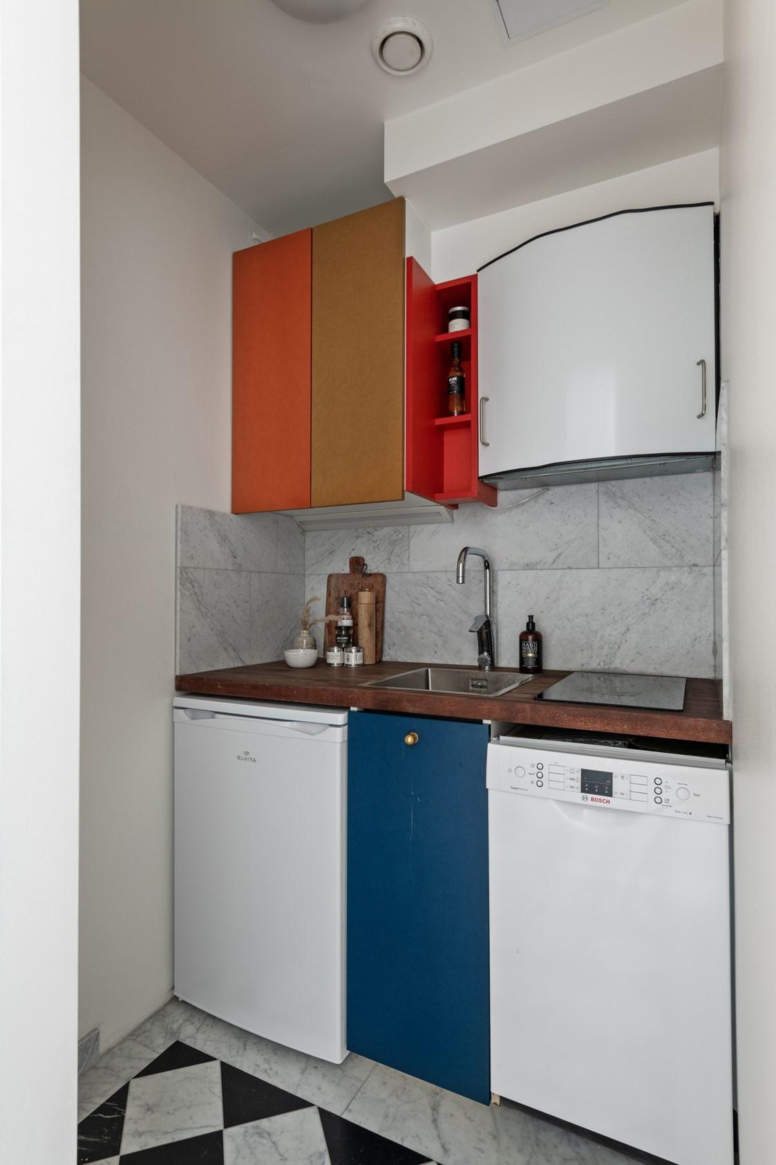 Интерьер маленькой скандинавской квартиры-студии 22 кв.