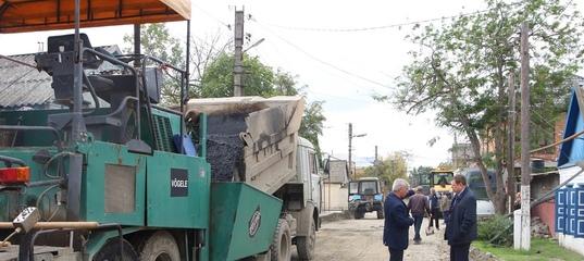 Ход работ по проекту «Мой Дагестан-мои дороги» лично контролирует мэр города  В Кизляре за счет