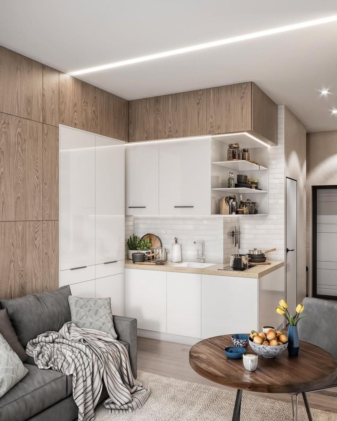 Концепт маленькой квартиры-студии 20 кв.