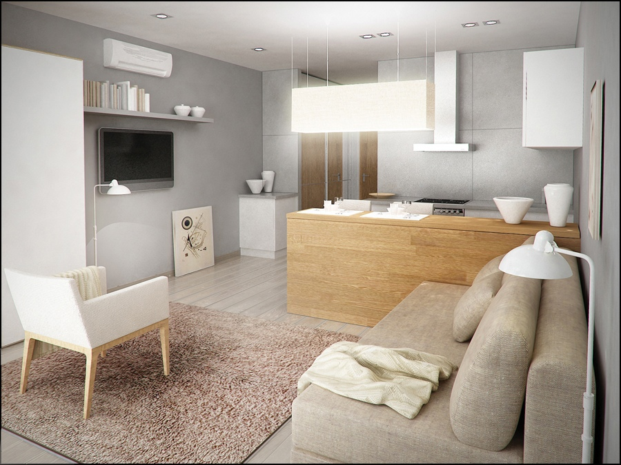 Дизайн-проект квартиры-студии 30 кв.