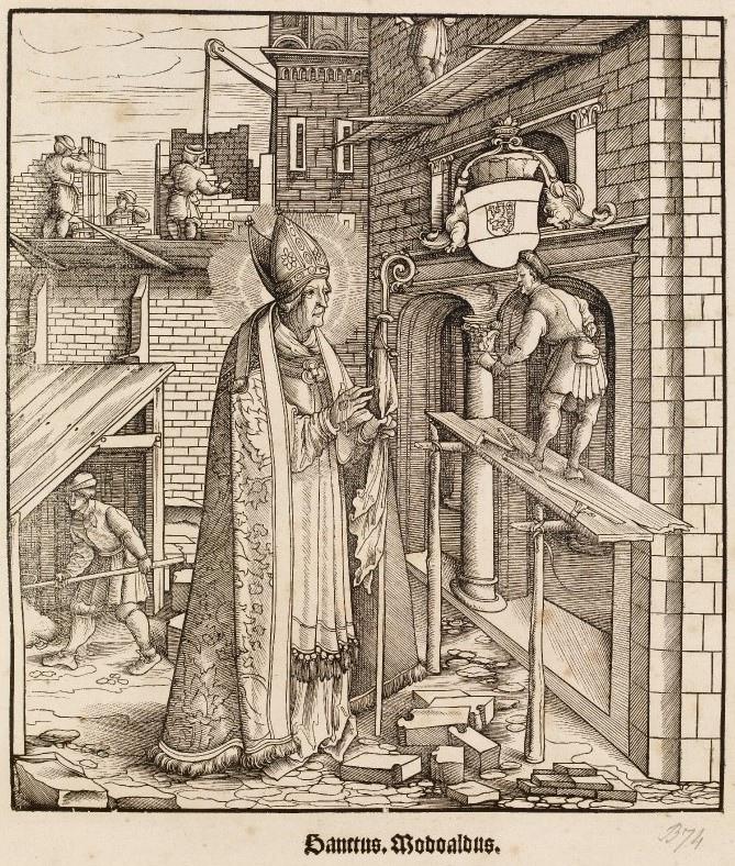 Святой Модоальд, также известный как Ромоальд, был франкским архиепископом Трира с 626 по 645 год. Он является покровителем Рейхсабтей Хельмарсхаузена, его литургический праздник отмечается 12 мая.