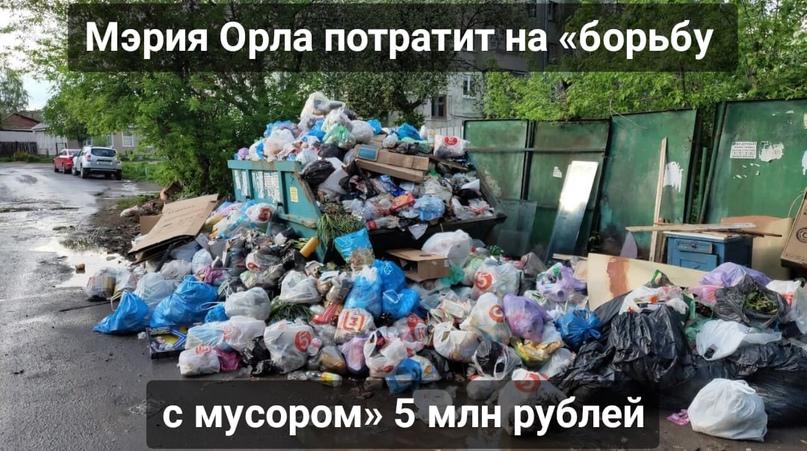 Мэрия Орла потратит на «борьбу с мусором» 5 млн рублей