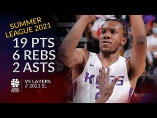 Louis King 19 pts 6 rebs 2 asts vs Lakers 2021 Summer League