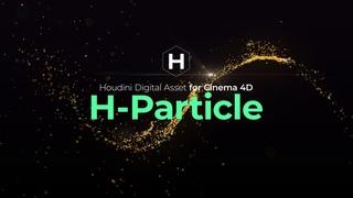 [Houdini Digital Asset for Cinema4D] 06 H-Particle