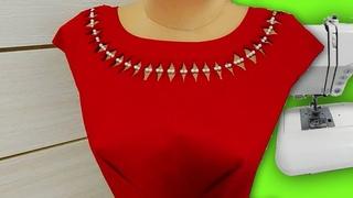 Секреты шитья. Посмотрите как хитро делается этот восхитительный декор горловины