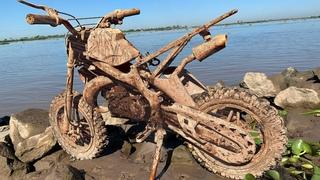 KTM mini motorbike restoration | Restore abandoned 2-stroke off-road Minibike