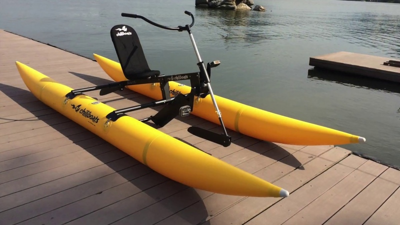 Easy to assemble and carry Bikeboat Rec Chiliboats Waterbike